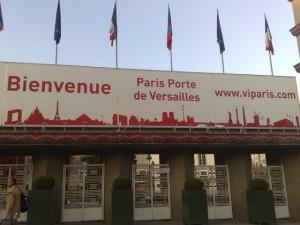 L'entrée du parc des expo à la porte de Versailles
