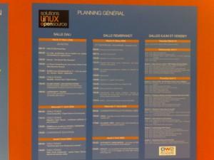 Planning (chargé) des 3 jours des solutions linux