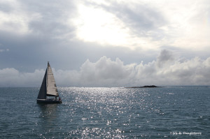 64-voilier sur l'atlantique