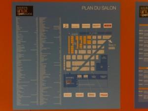 Le plan des solutions Linux 2009 à l'entrée du Hall 2.2