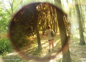 derrière les lunettes de soleil
